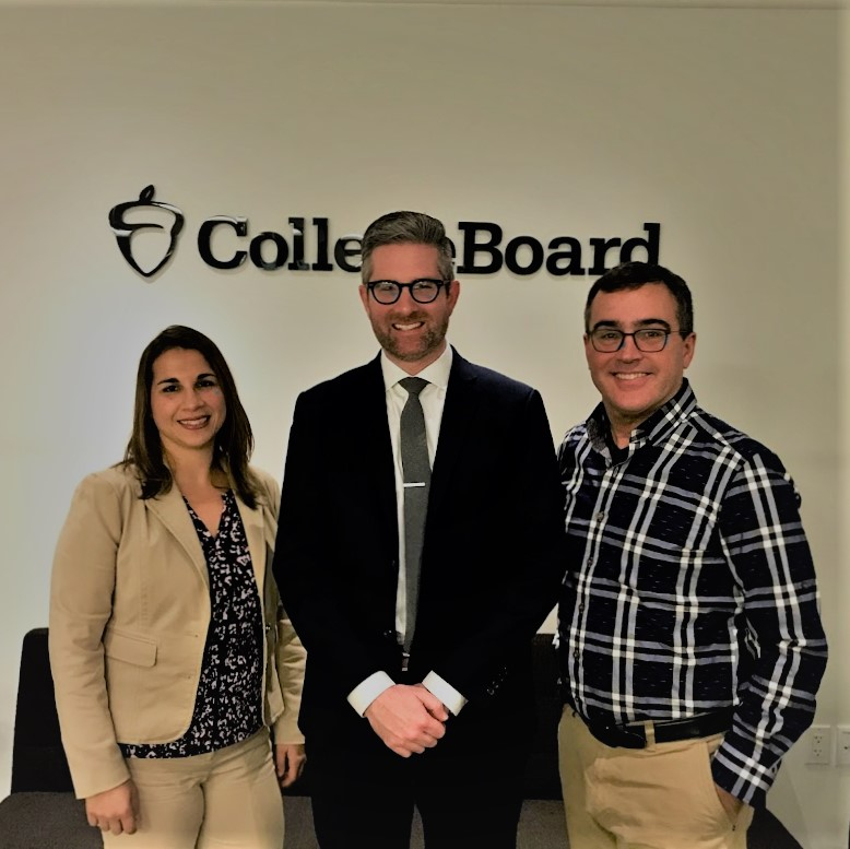 Pictured left to right: Jackie Maffucci, Ph.D, Applied Data Solutions, Barrett Y. Bogue, Evocati LLC, Bruce Shahbaz, College Board