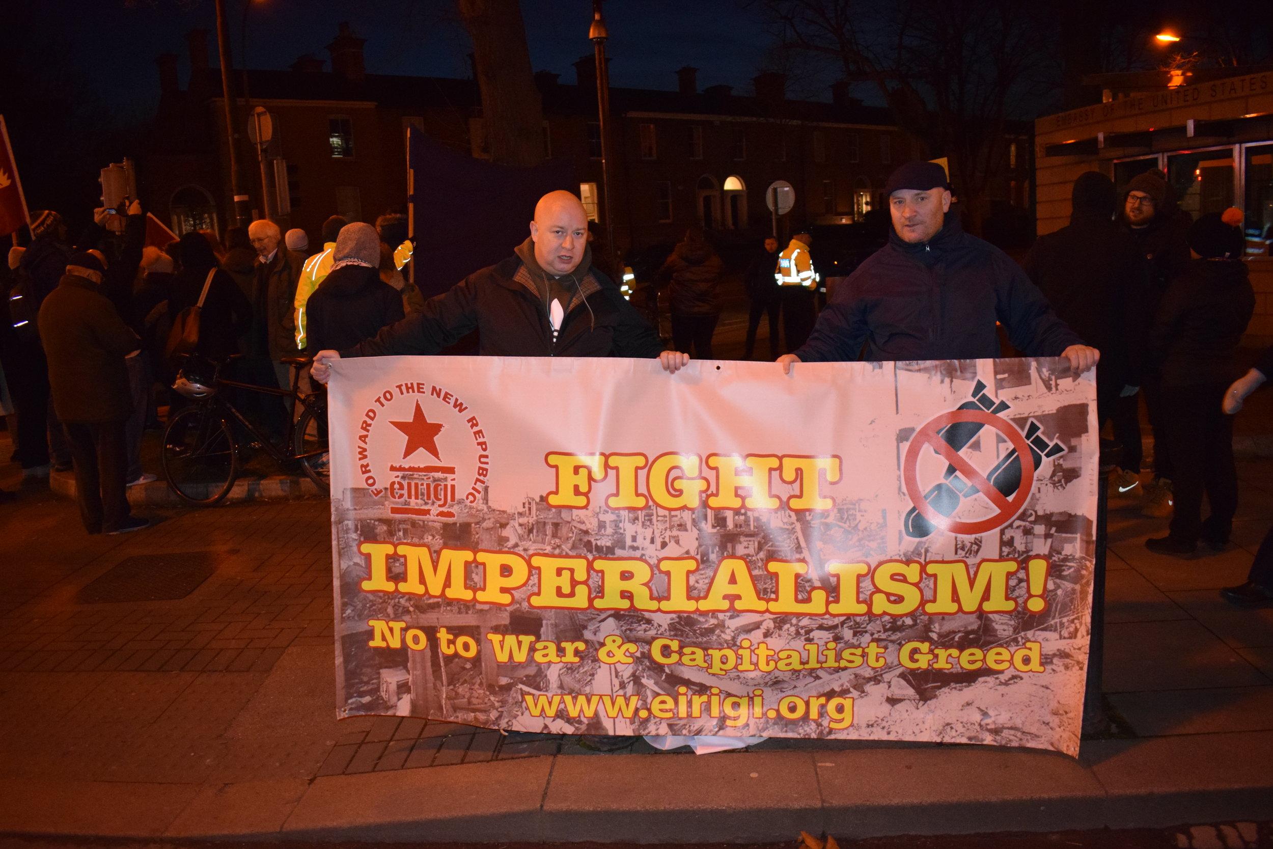Éirígí Anti-Imperialism Banner