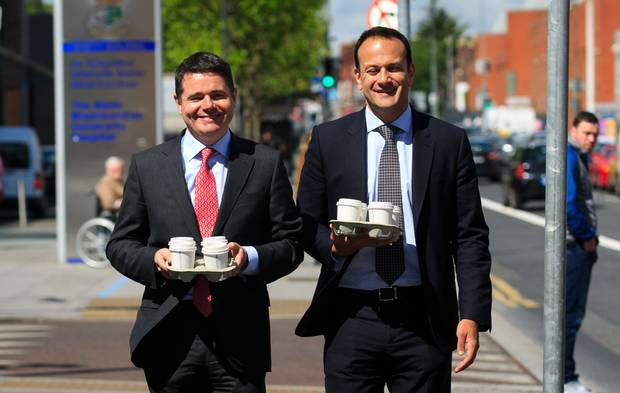 Fine Gael's Pascal Donohoe (Minister For Finance) and Leo Varadkar (Taoiseach) effectively control government banking and housing policy.