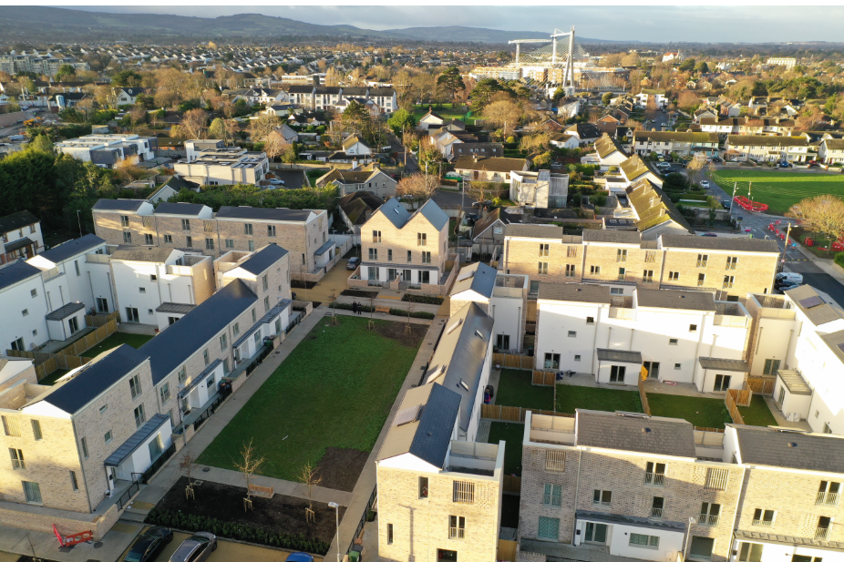 Rosemount Court, a mixture of modern one, two, three and four bedroom apartments and houses.