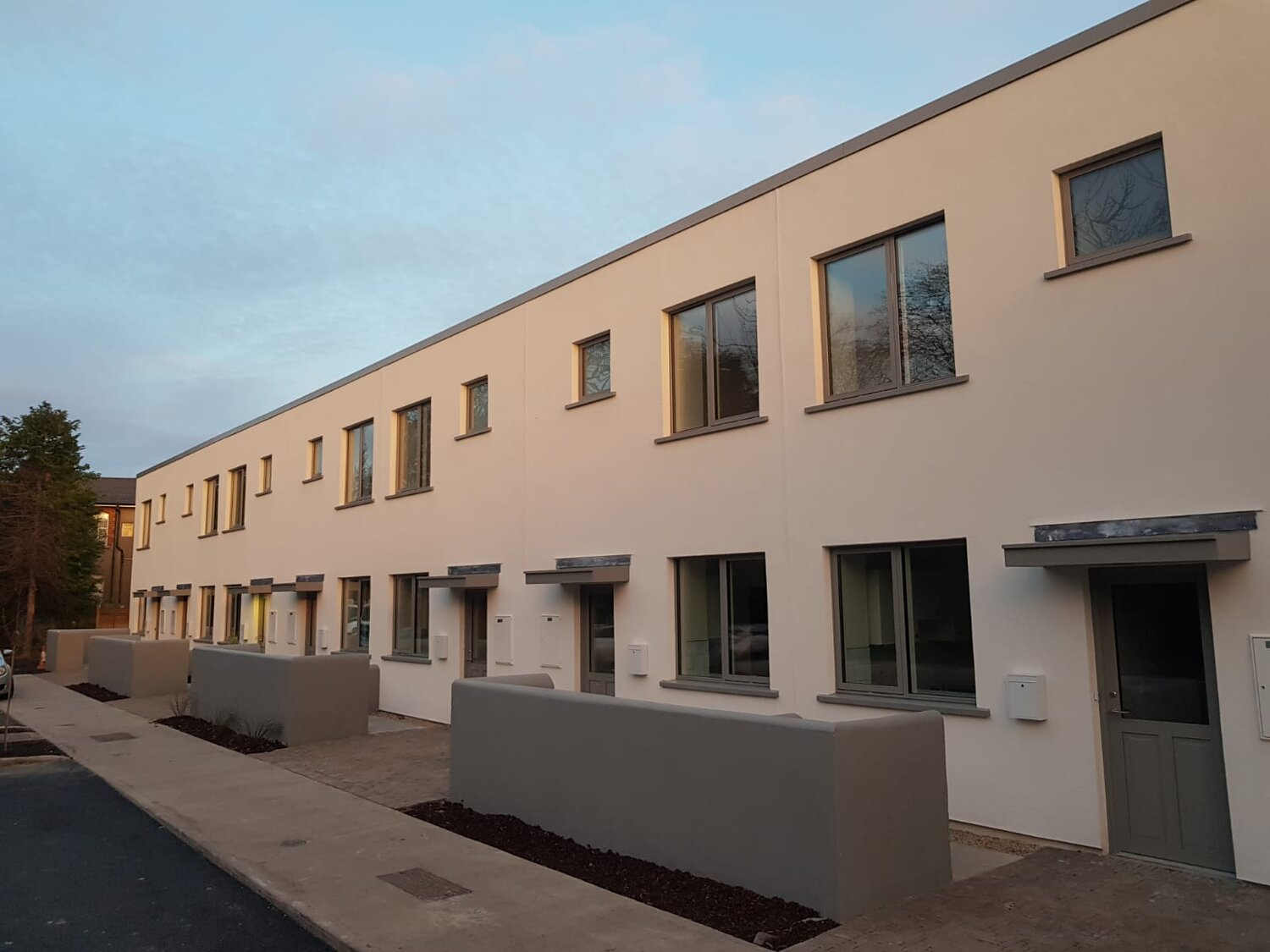 Moyola Court, a formerly private housing development that is now in public ownership and providing twelve families with secure, affordable homes.