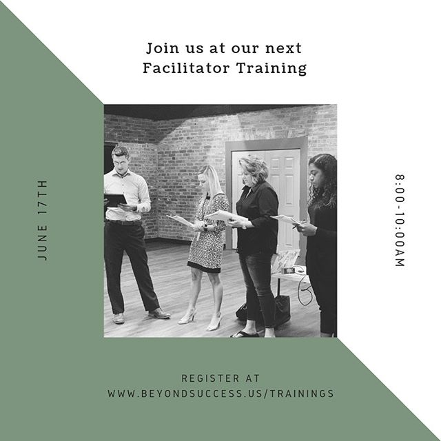 If you missed out on the last Facilitator Training, we have one for you in Waxahachie!  For more details go to www.beyondsuccess.us/trainings.