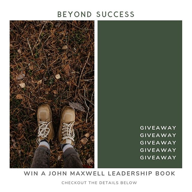 GIVEAWAY: Win a John Maxwell book! 📖 How to win: 1. Follow Us  2. Tag 5 people(each in a separate comment) The winner will be announced in ONE WEEK from today!  Good Luck! ✨