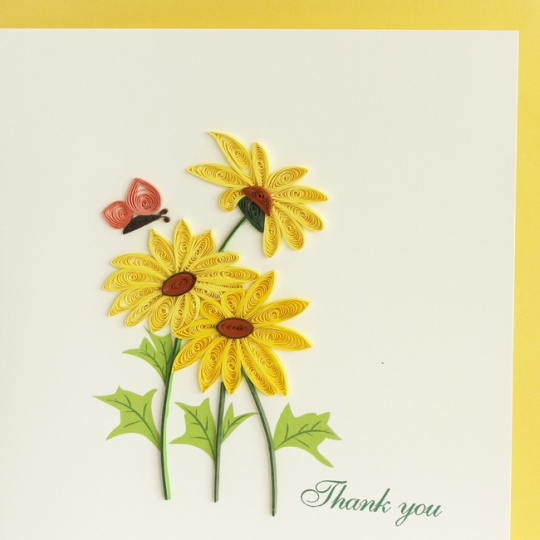 Yellow Daisies Thank You Card