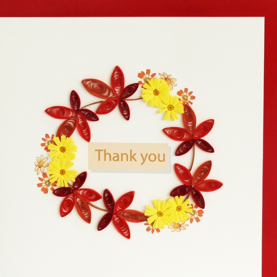Fall Flowers Thank You Card