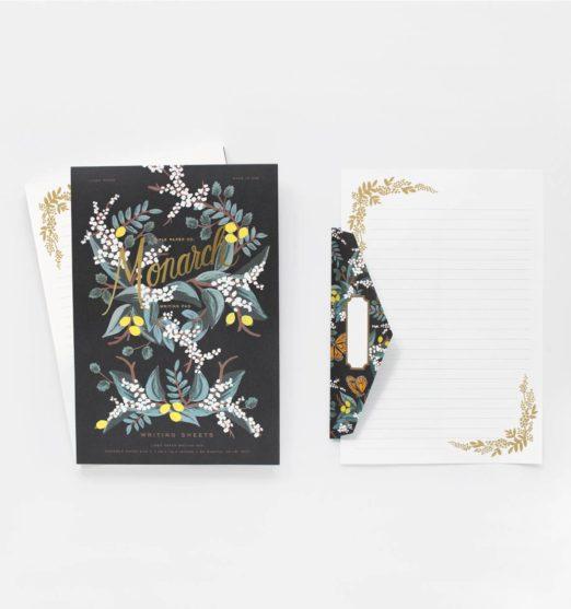 Monarch Writing Pad + Envelopes