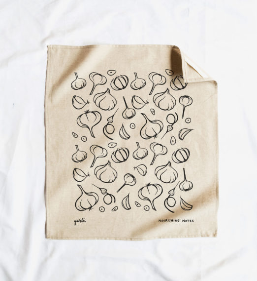 Nourishing Notes | Garlic Tea Towels