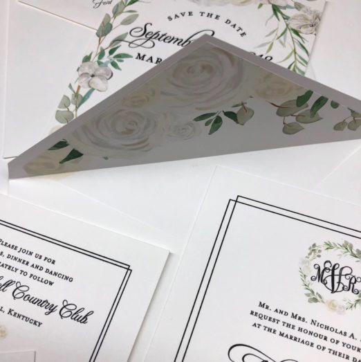 custom floral wedding stationery by Poeme www.poeme-online.com