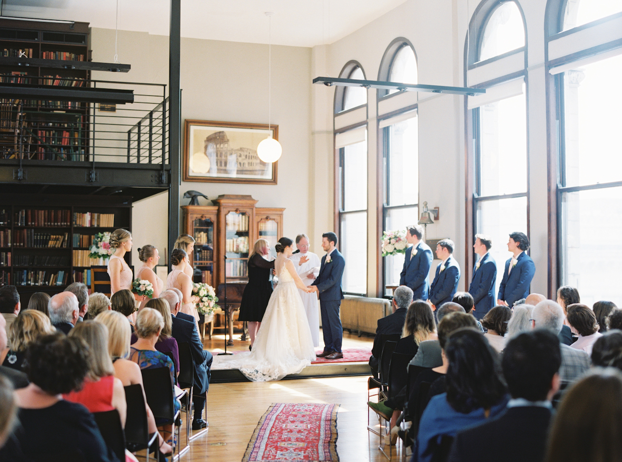 Mercantile Library interfaith wedding ceremony
