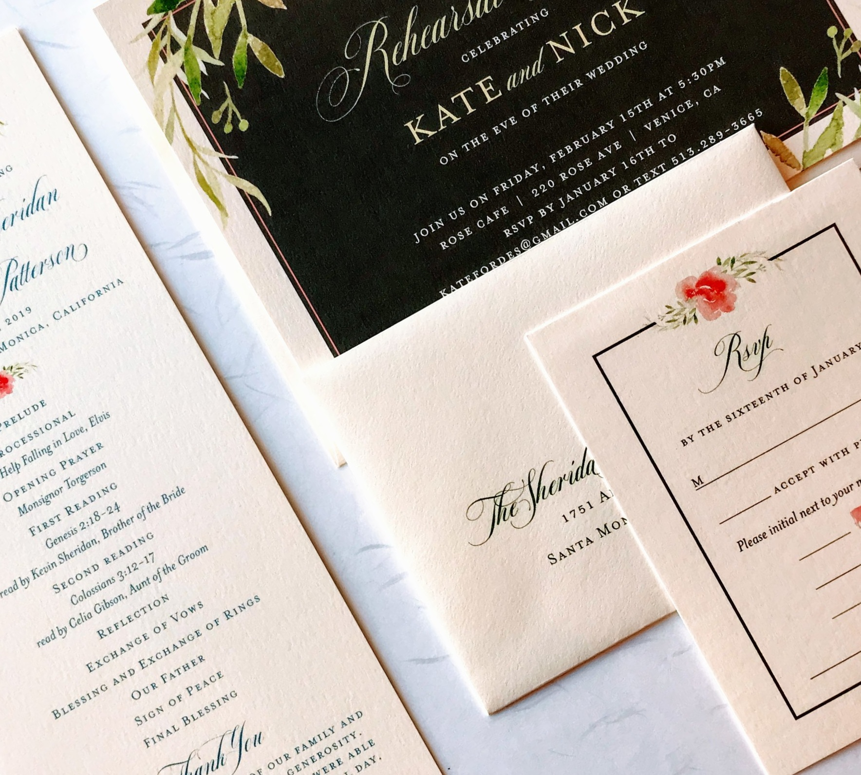 Watercolor Florals & Greenery