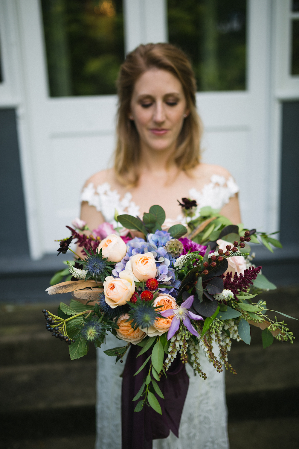 Bridal bouquet with king protea