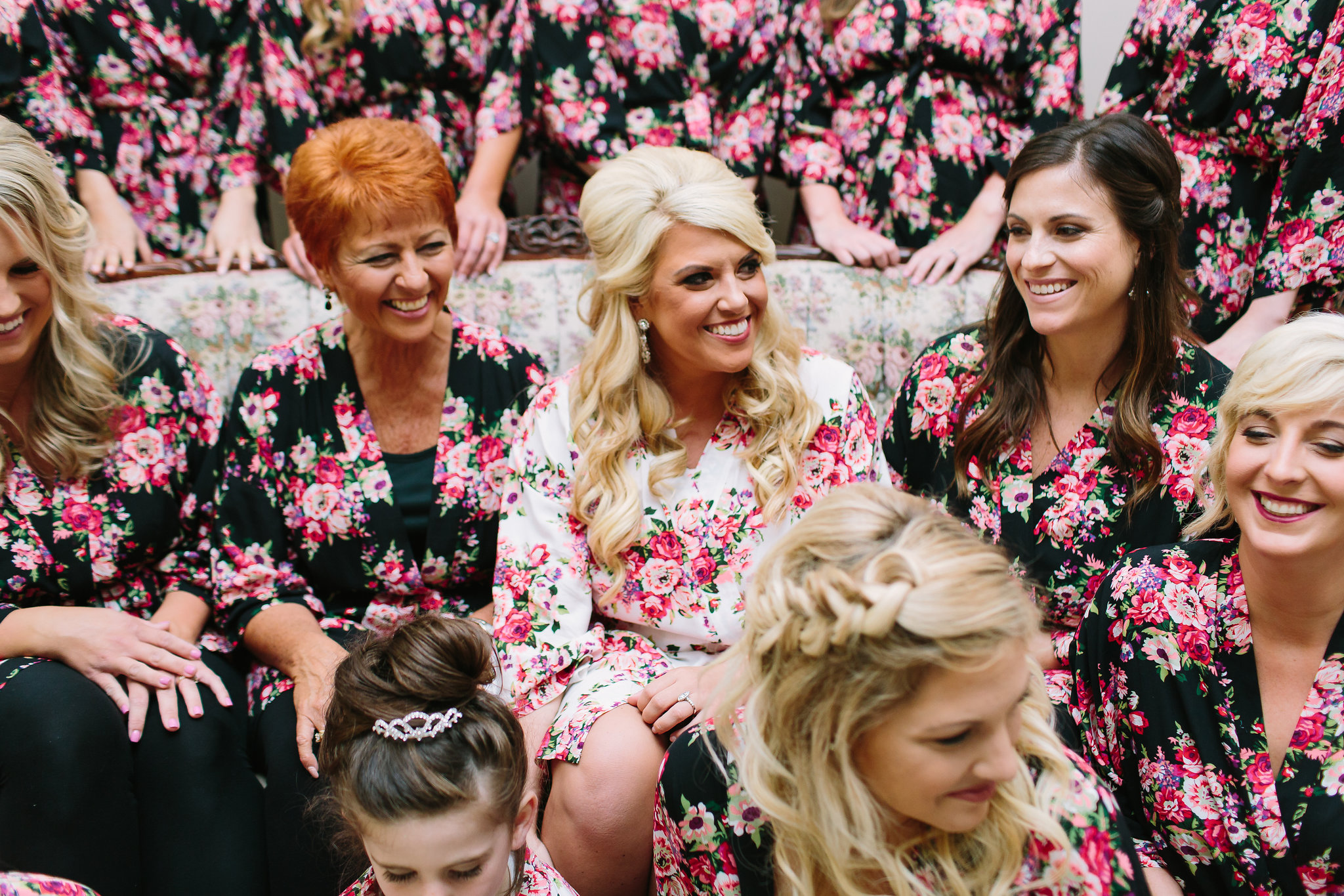 Bright and bold southern wedding in pinks.