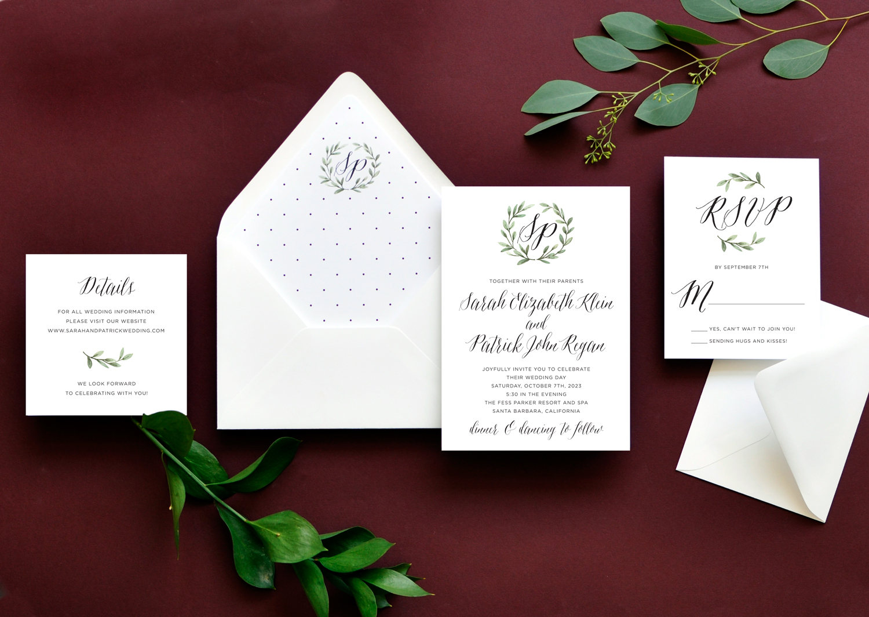Blissful Wreath Wedding Ensemble