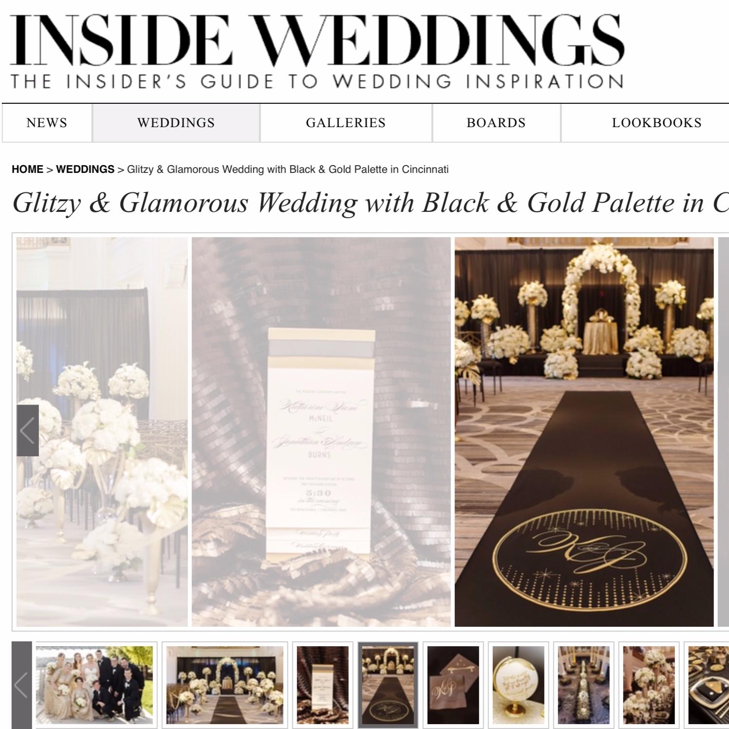 Glamorous Black & Gold Wedding