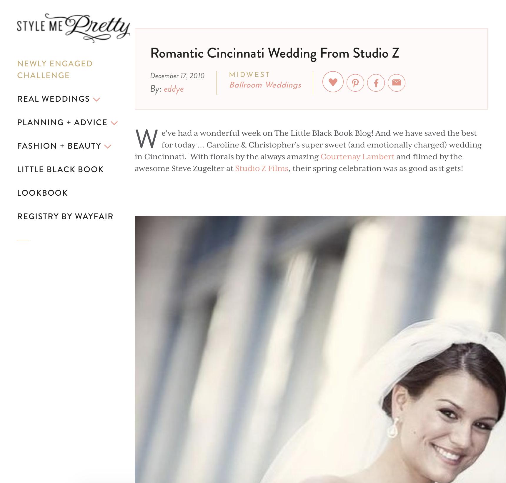 Romantic Hall of Mirrors Wedding