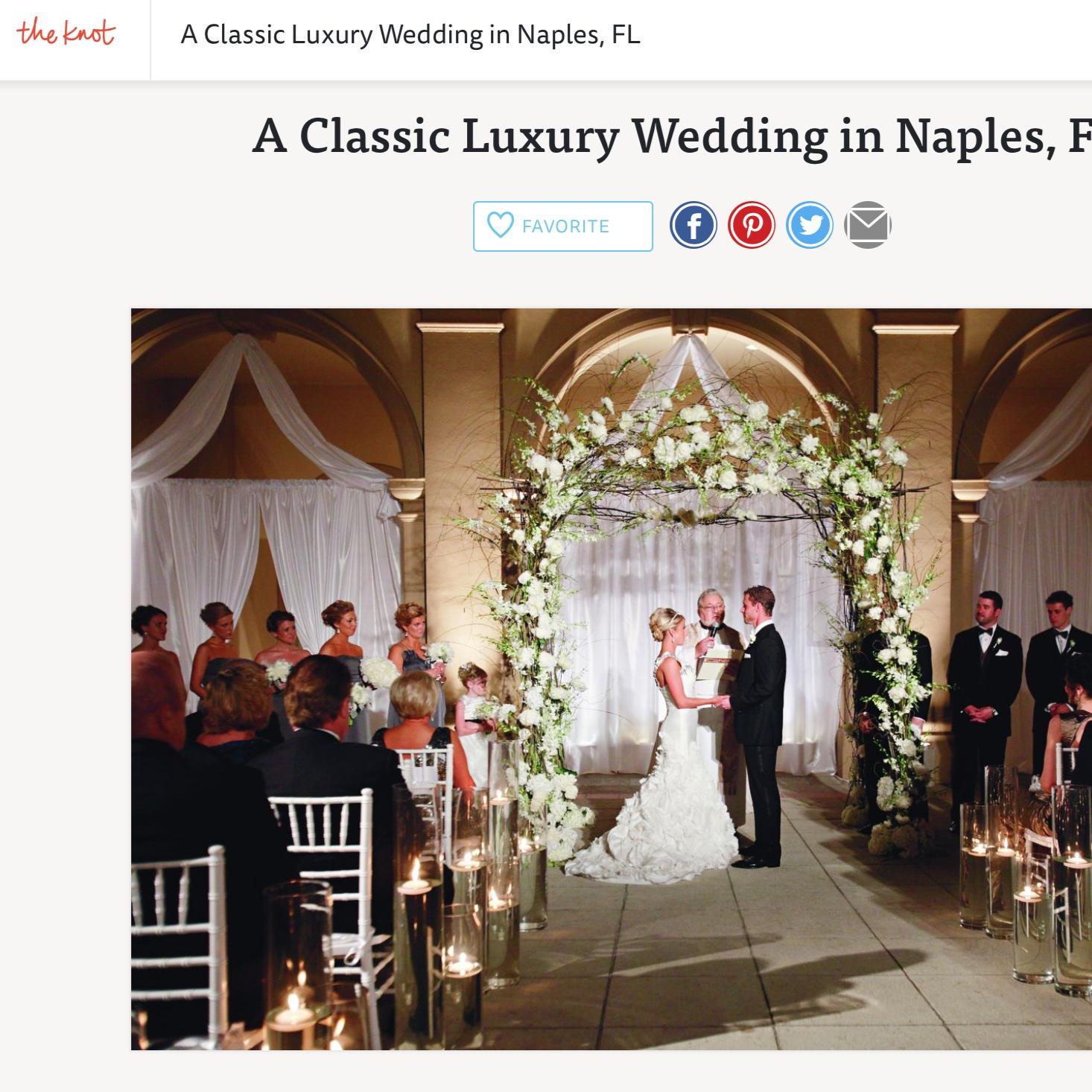 Luxurious Winter Wedding in Naples, FL