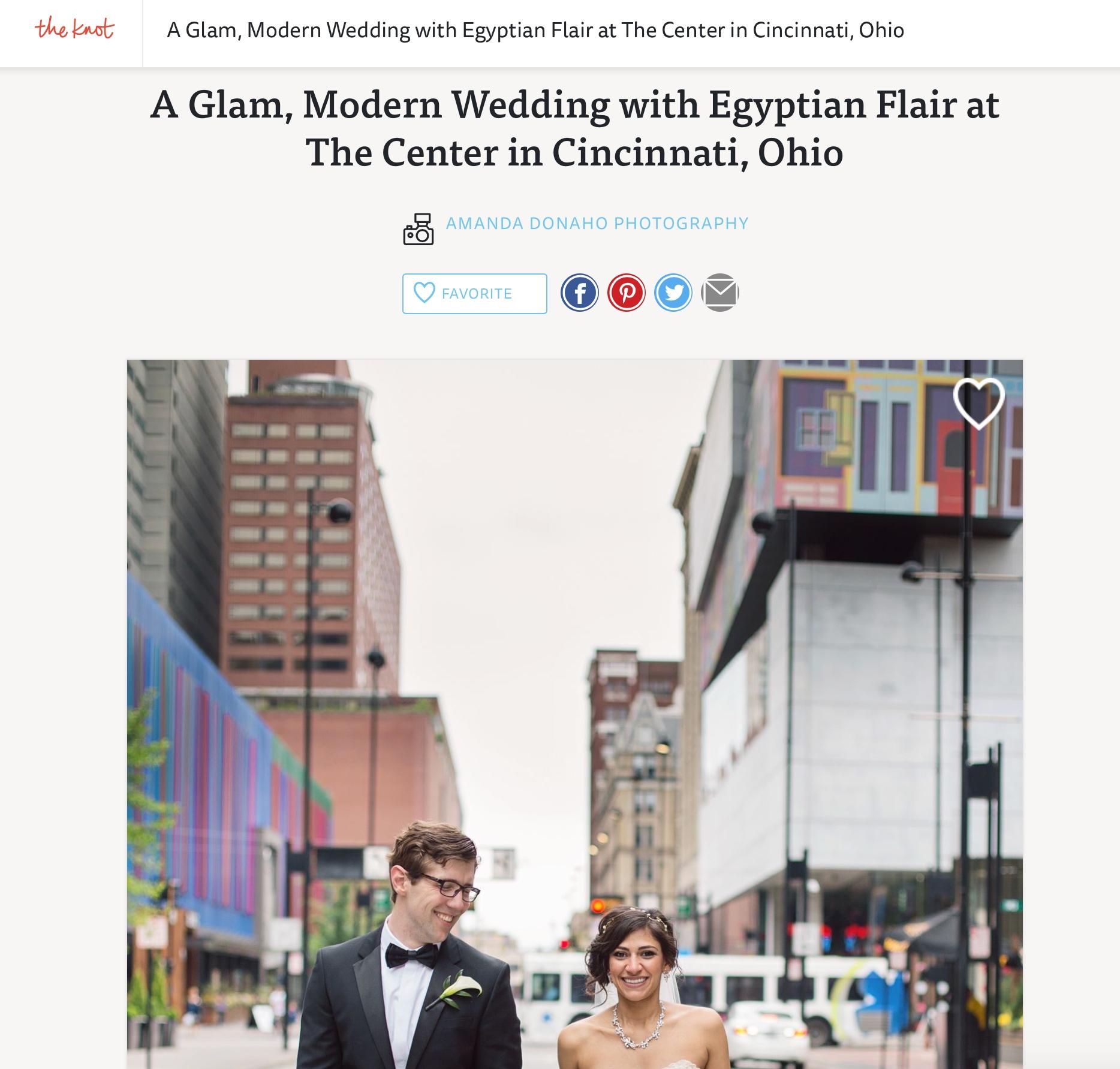 Glamorous Wedding with Egyptian Flair