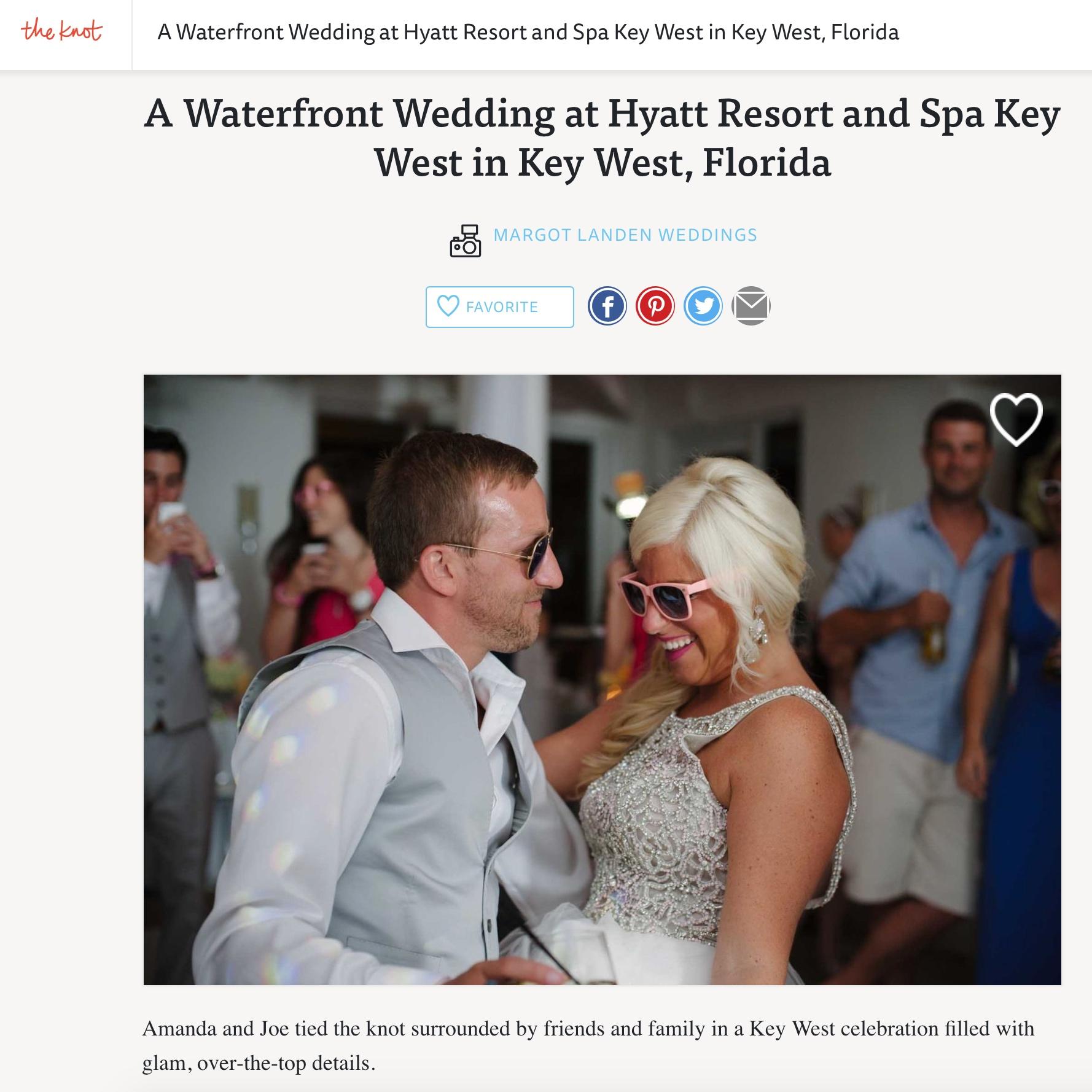 Glamorous Key West Waterfront Wedding