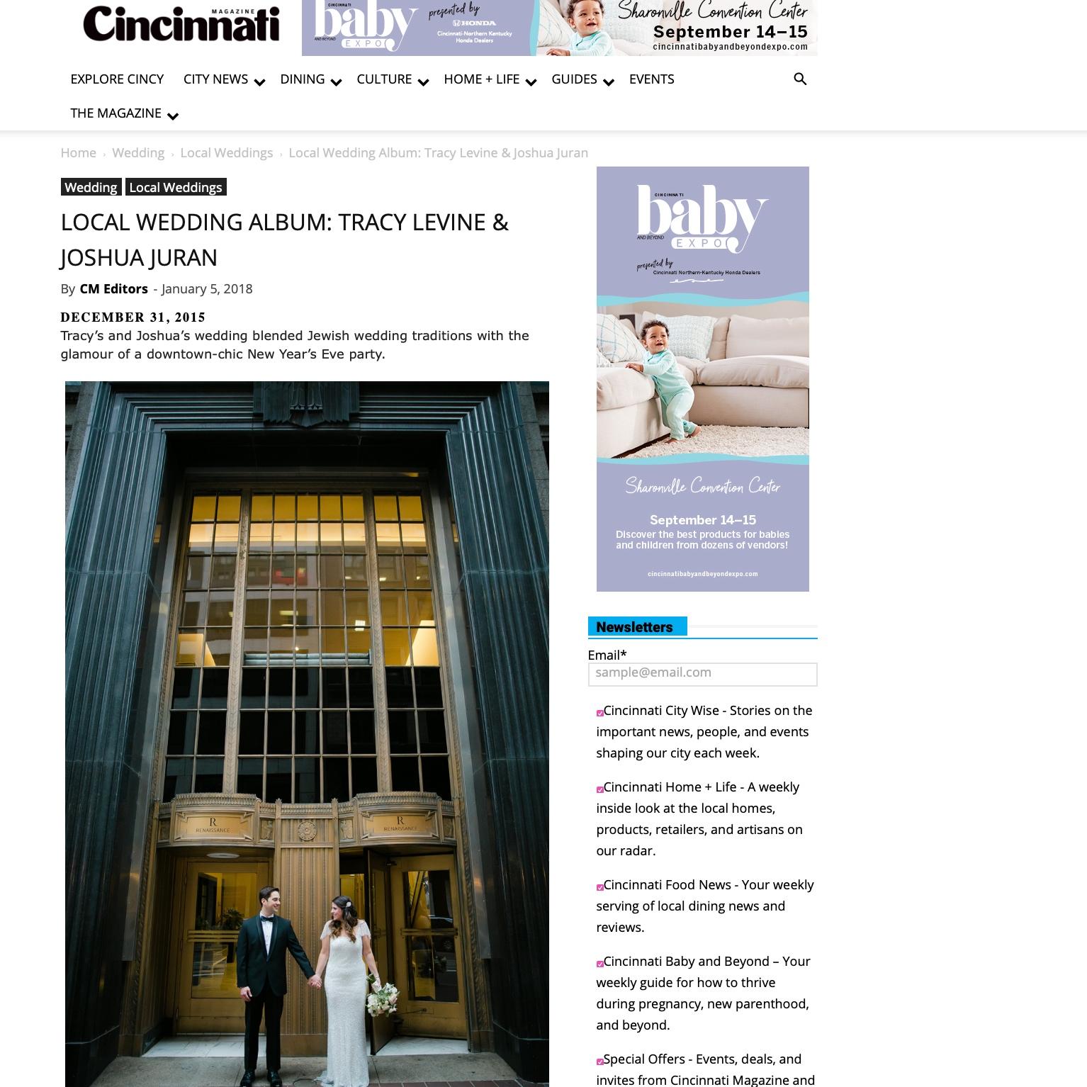 Downtown Cincinnati Wedding Celebration