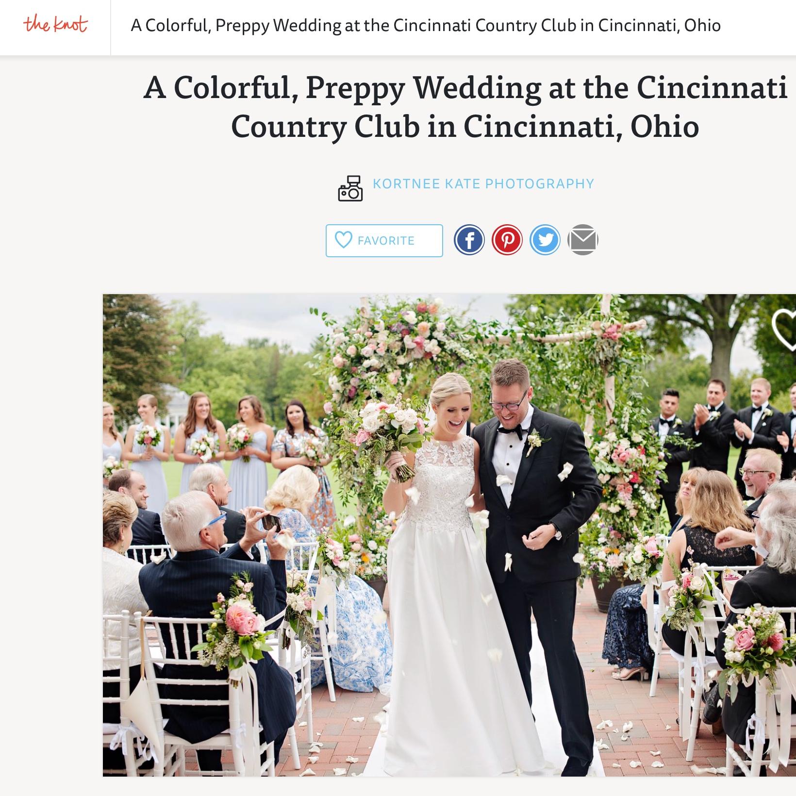 Colorful, Preppy Cincinnati Wedding