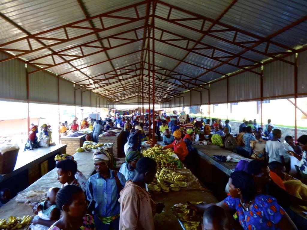 Local market in Rwanda