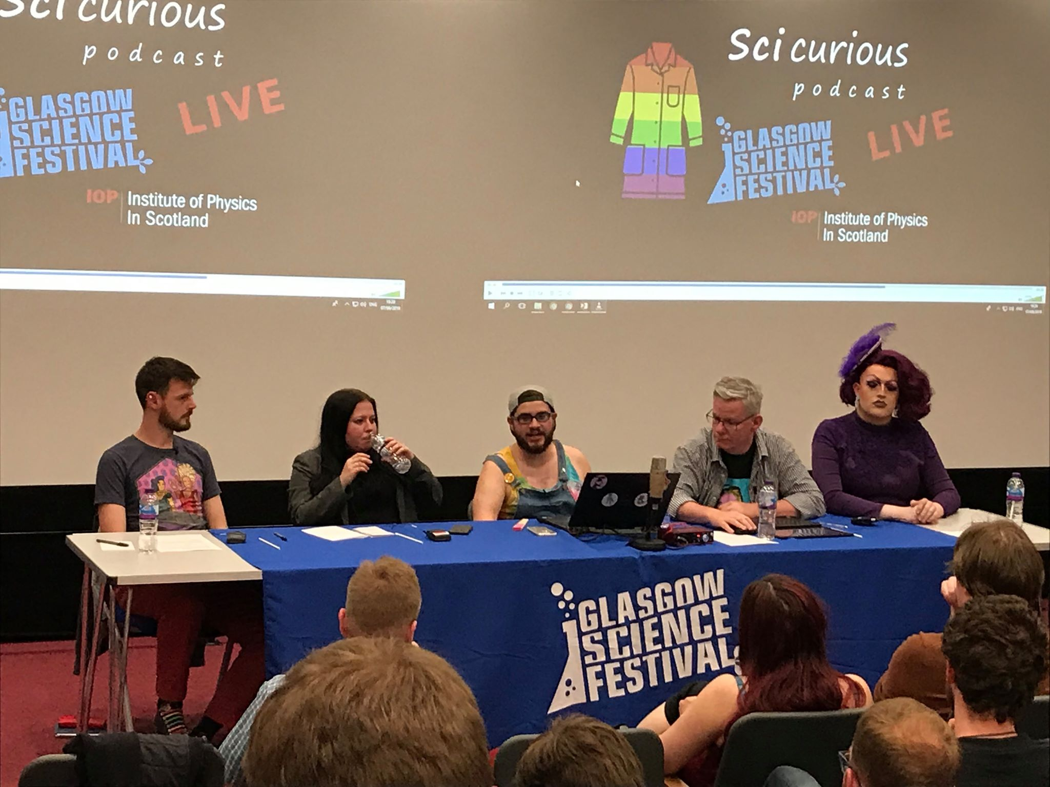 Live! - This month, we brough SciCurious into the meatspace with SciCurious: Live! Panellists (left to right) were Jon Orgill, Emily Nordmann, Martin Hendry and Lawrence Chaney!