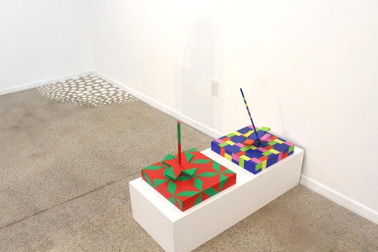 (left)Iemke van Dijk, Untitled , 2017;Laura Nillni, The Dance of the Chameleon , 2012