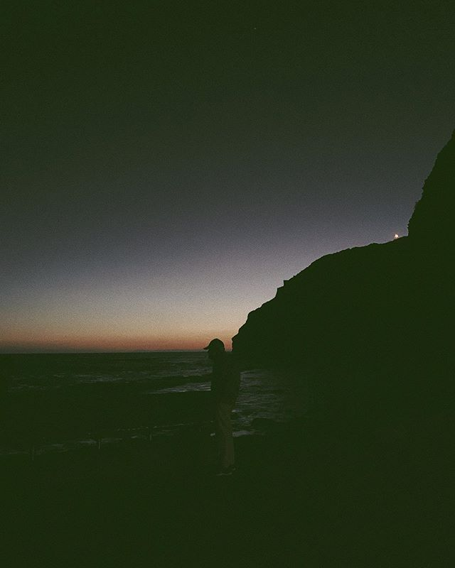 it was just a handsy couple in the dark, a runner, this elderly man and his noticeably arched back, hat run aligned with horizon, and me, admiring the Pacific Ocean with nothing but thousands of miles of water to the west and a quiet harbor to the east with the last of lights over the earths barely perceivable curve // #iphonexs #shotoniphone