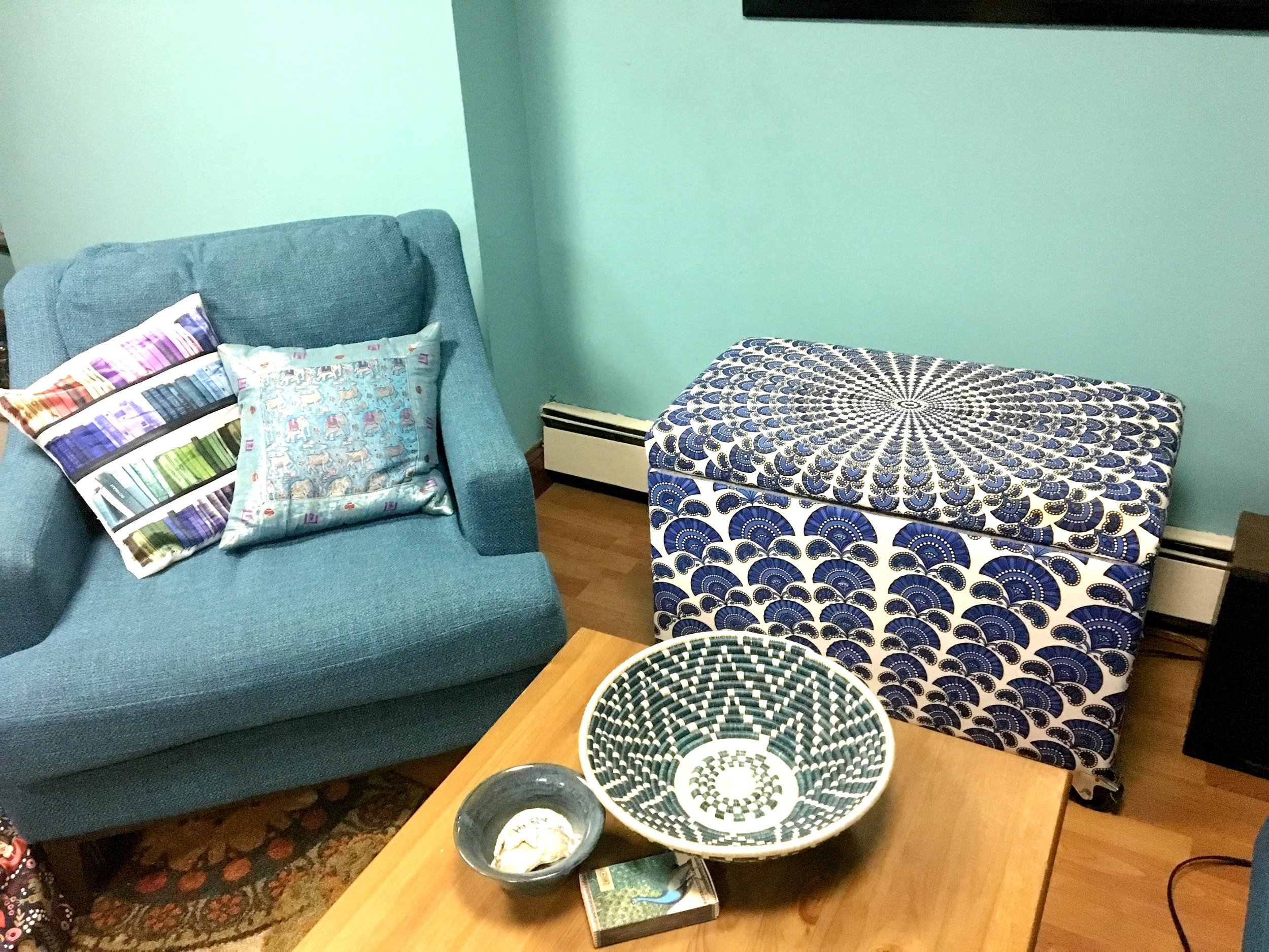 We can help with almost any project! - Seriously our student made this ottoman from start to finish.