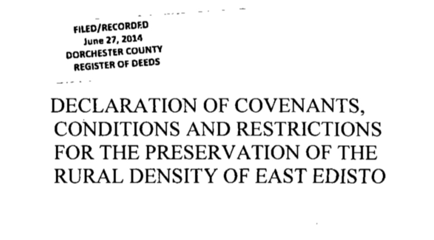 LEGAL DOCUMENTS - The Conservancy covenants and restrictions are recorded in the respective counties, and offered here as a convenience to interested parties.