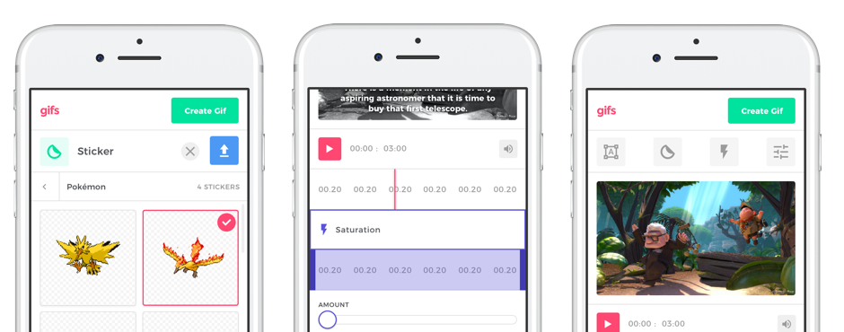 Finalized mobile editor designs