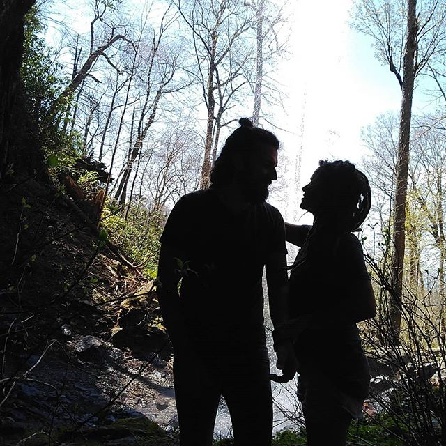 Once upon a time, there was a boy and a girl. The girl didn't need the boy. She didn't even want him. But he stumbled into her life with the same recklessness that led his and stole her heart.  Before, they wandered through the wild alone, moving along separate paths that would slowly bring them together. Now, they wander through the wild together, hand in hand, experiencing beauty, pain, fear and love with and because of each other.  Taken in a cave under Douglas Falls @paintedeye 😘