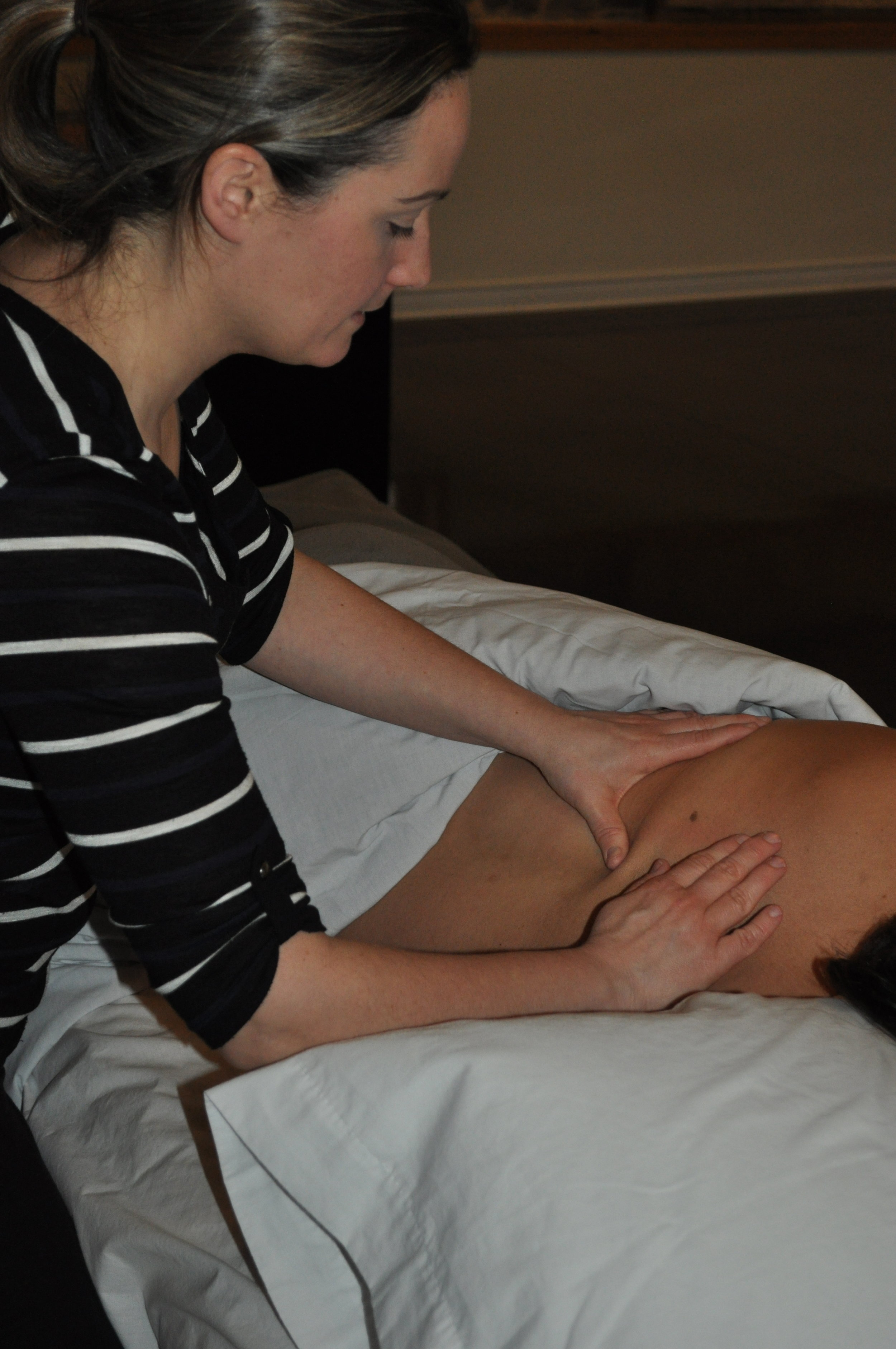 Massage Therapy withMonica Proscia, BA, RMTMondays 1:00- 6:15pm - Monica graduated in 2005 from the Massage Therapy program at Sutherland-Chan School and Teaching Clinic in Toronto, Ontario. She began her career as a Massage Therapist in the GTA and relocated to Ottawa in 2008 and moved to the Merrickville area in 2014.Monica has experience treating clients for a variety of ailments, including but not limited to, stress management and repetitive strain and sports injuries utilizing a variety of pain management and relaxation treatments. She has taken specialized training in deep tissue massage, structural myofascial release therapy, K-taping and active isolated stretching.Benefits of Massage Therapy: Promote physical relaxation; improves circulation, nourishing cells and improving elimination of waste; relieves physical dysfunction and pain; reduces nerve compression (sciatica, carpal tunnel, thoracic outlet syndrome); improves flexibility and range of motion; addresses postural concernsIf you would like to book in with Monica, please contact her directly, monicaproscia.rmt@gmail.com or 613-285-5552.