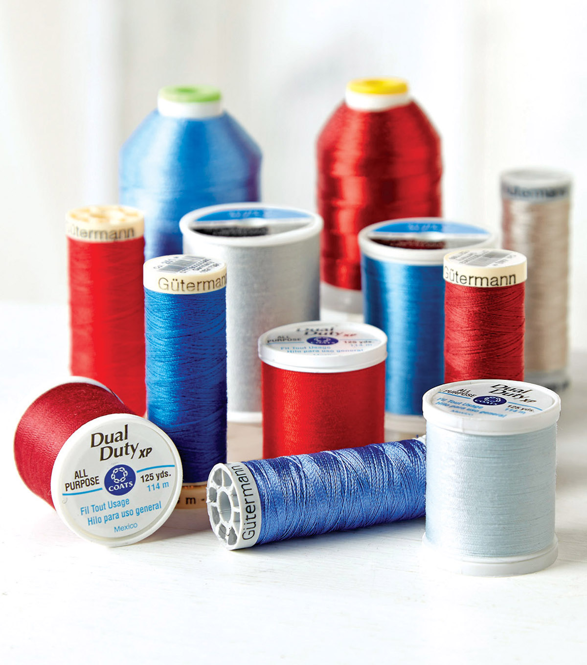 Thread - There are so many variations to thread, however, a sewing beginner really needs a small collection of general purpose threads. Gutermann or Coats & Clark threads will work perfectly for most of your sewing projects.