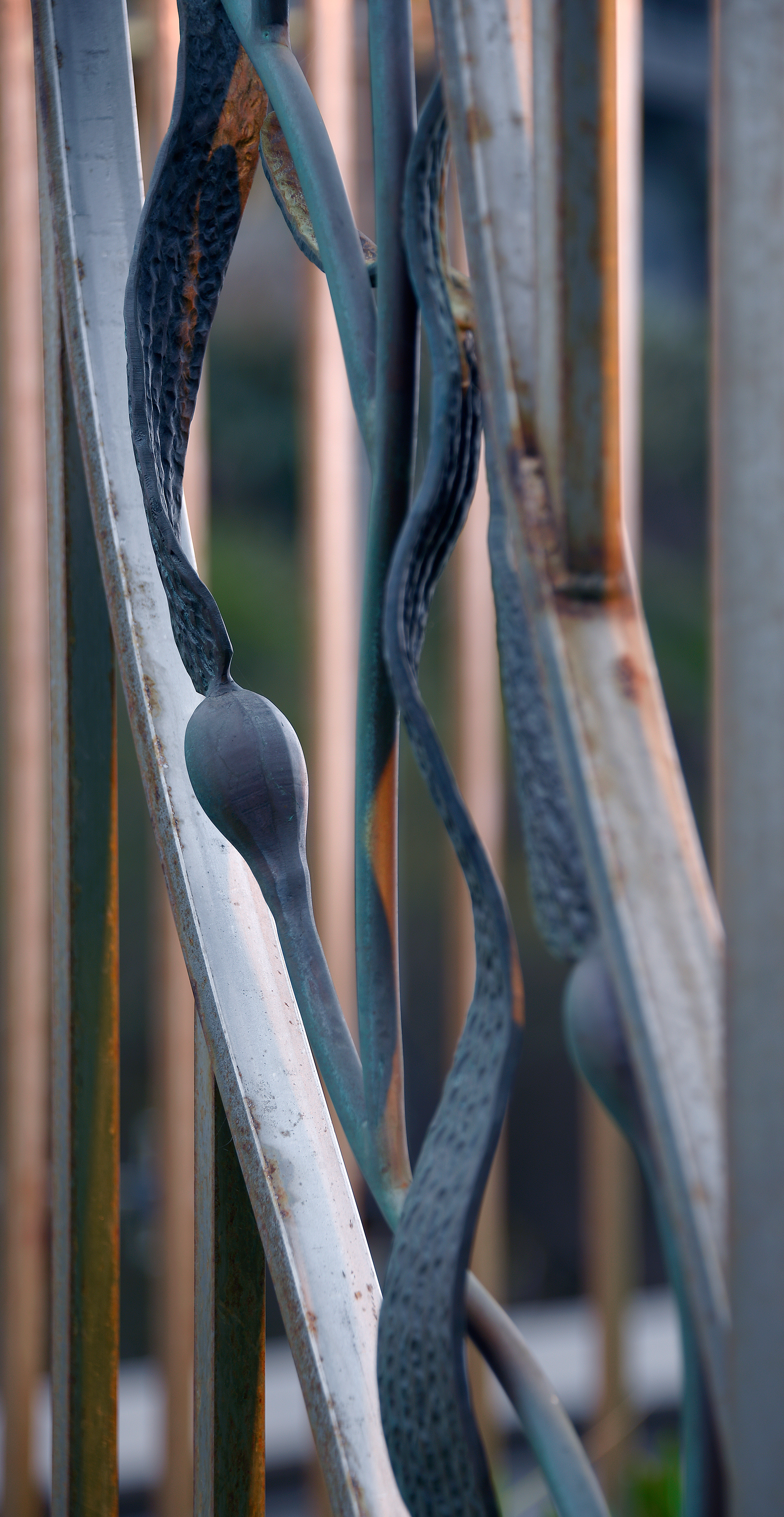 Stainless Steel Railing with Bronze Kelp