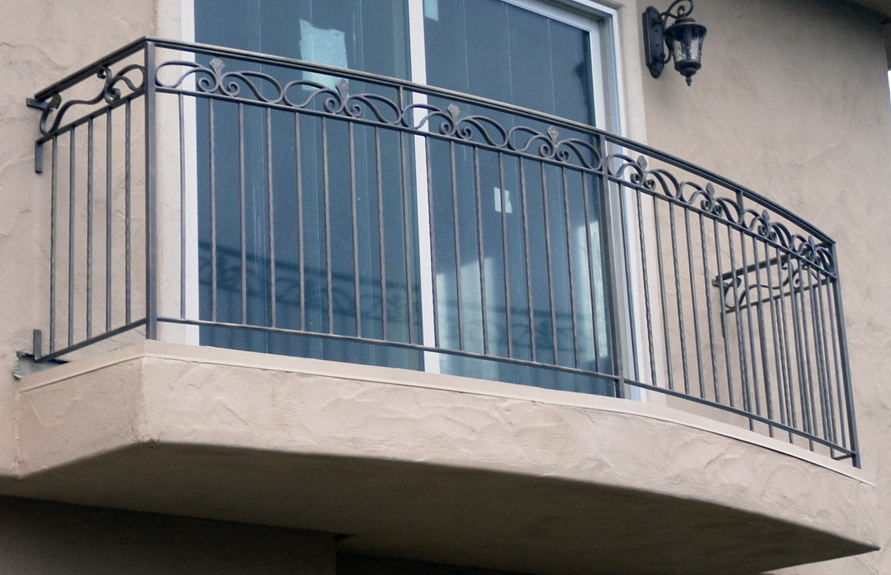Painted Wrought Iron Railing
