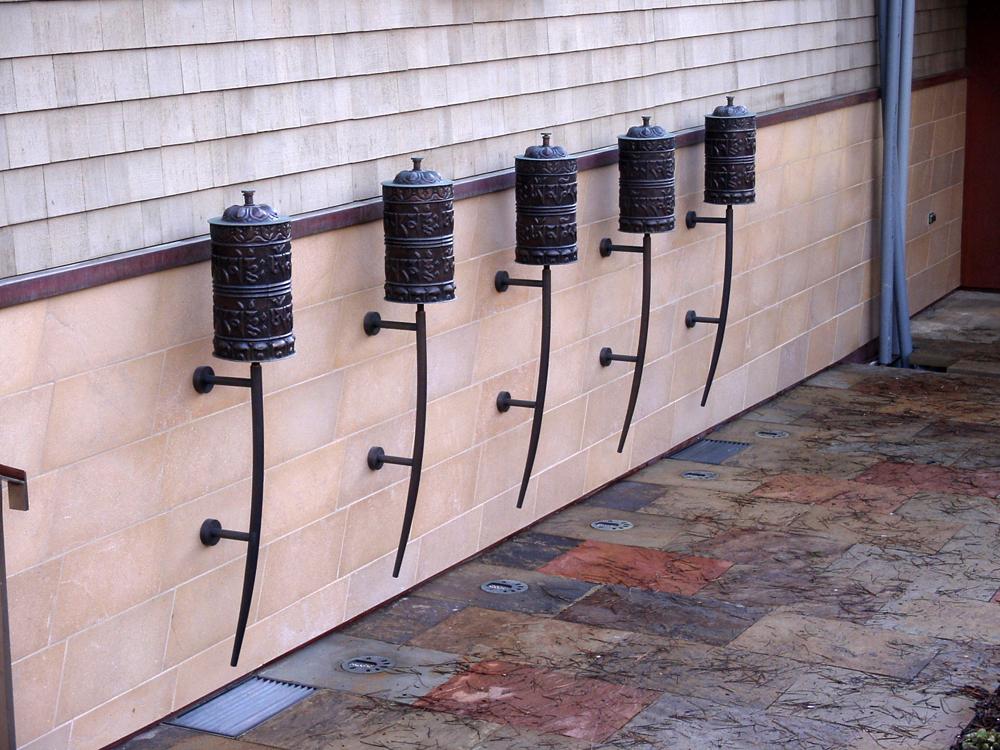 Copper Tibeten Prayer Wheel Stands