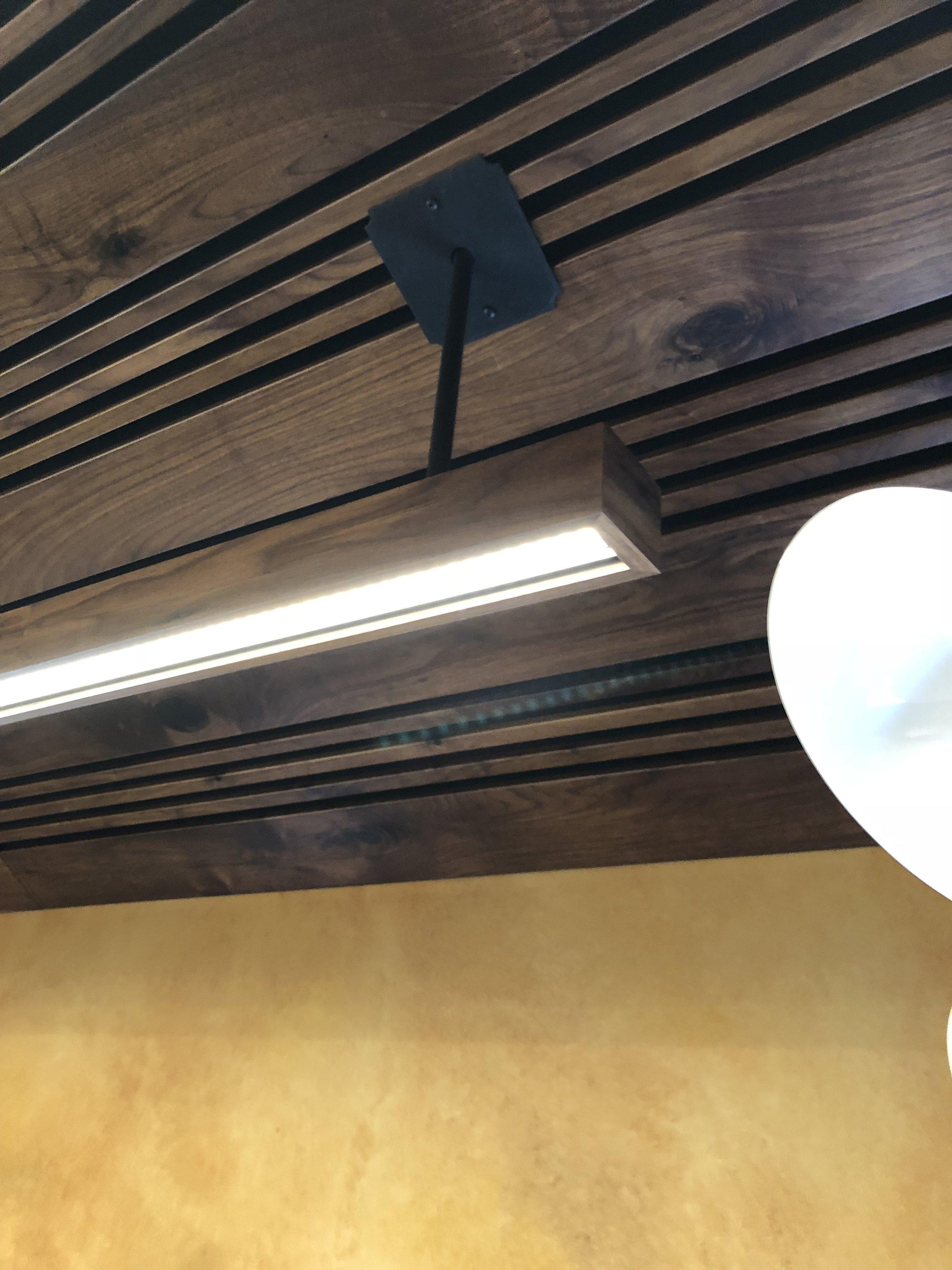 Aluminum Light Beams Clad and Black Walnut