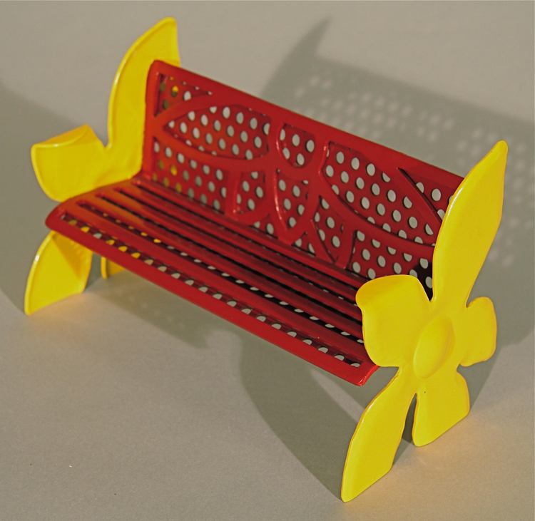 Painted Flower Bench