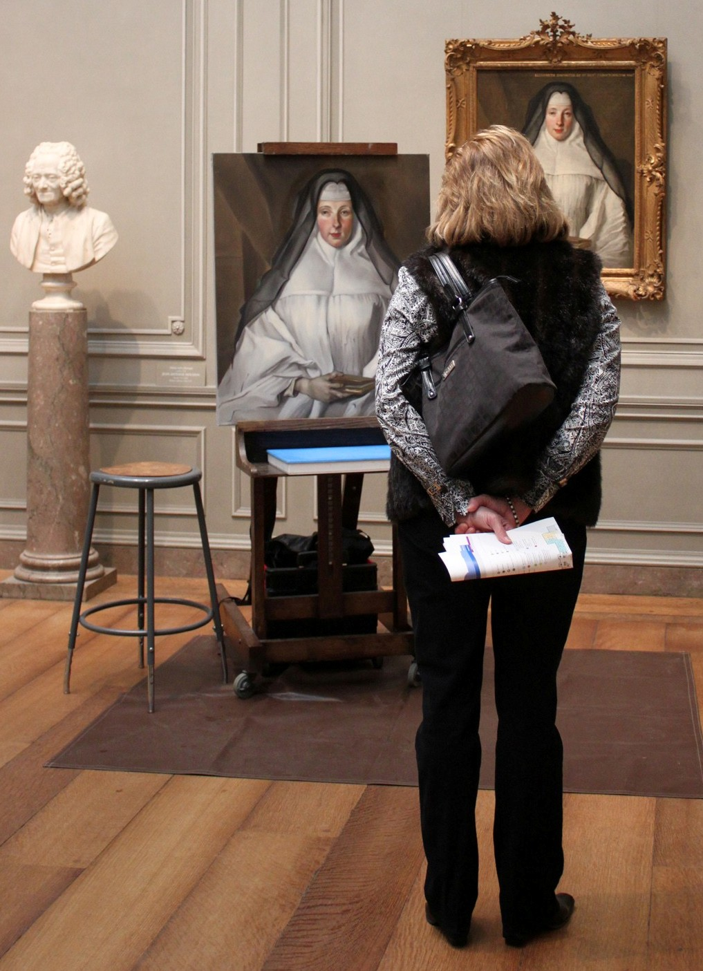 "Copy of Nicolas de Largillière's ""Canoness"" at the National Gallery of Art."