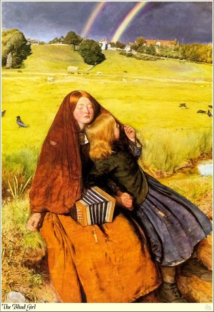 """""""The Blind girl"""", John Millais."""
