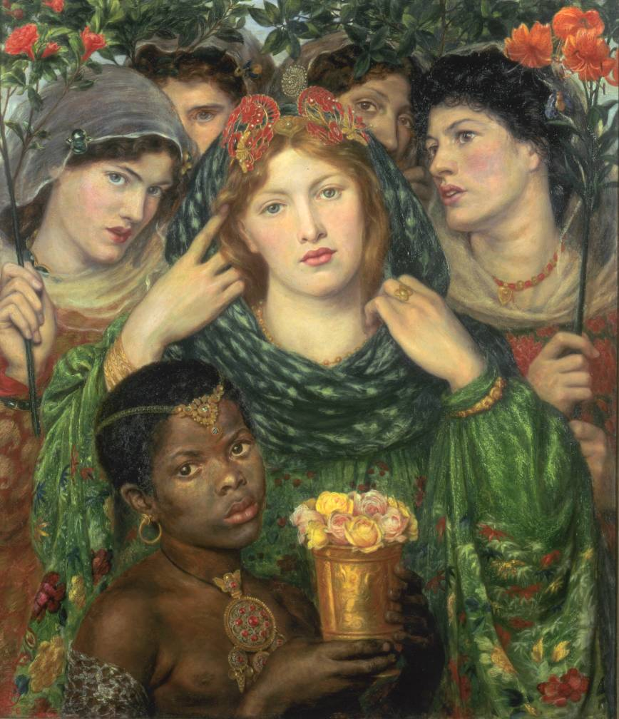 """The Beloved ('The Bride')"" 1865-6, by Dante Gabriel Rossetti."