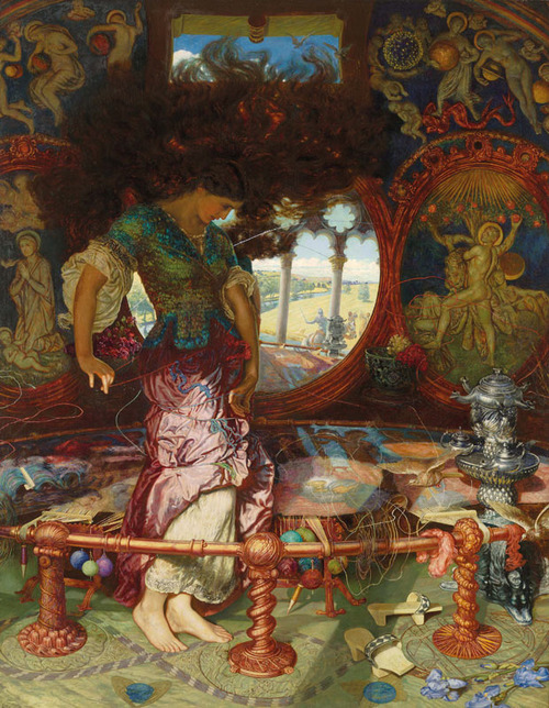 """""""The Lady of Shalott"""" (1886-1905) by William Holman Hunt"""