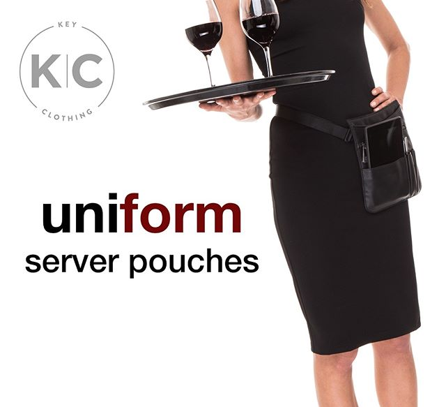 Serving you server pouches! Custom styles available. ✖️www.shopkeyclothing.com✖️