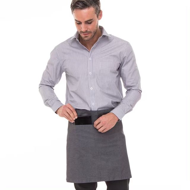 Sleek & modern aprons for a professional & polished look! Our aprons come in many colours/styles. #shopkeyclothing #yvr #customuniforms