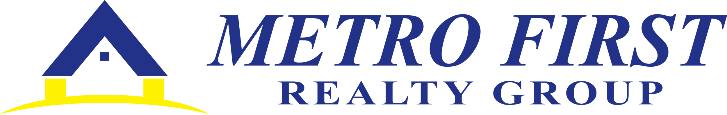 Metro First Realty Group Logo Linear Blue & Yellow High.png