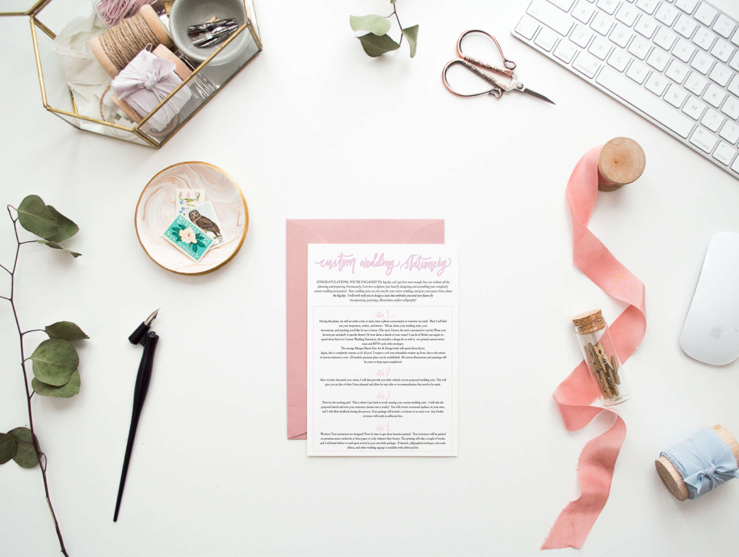 - custom wedding stationery