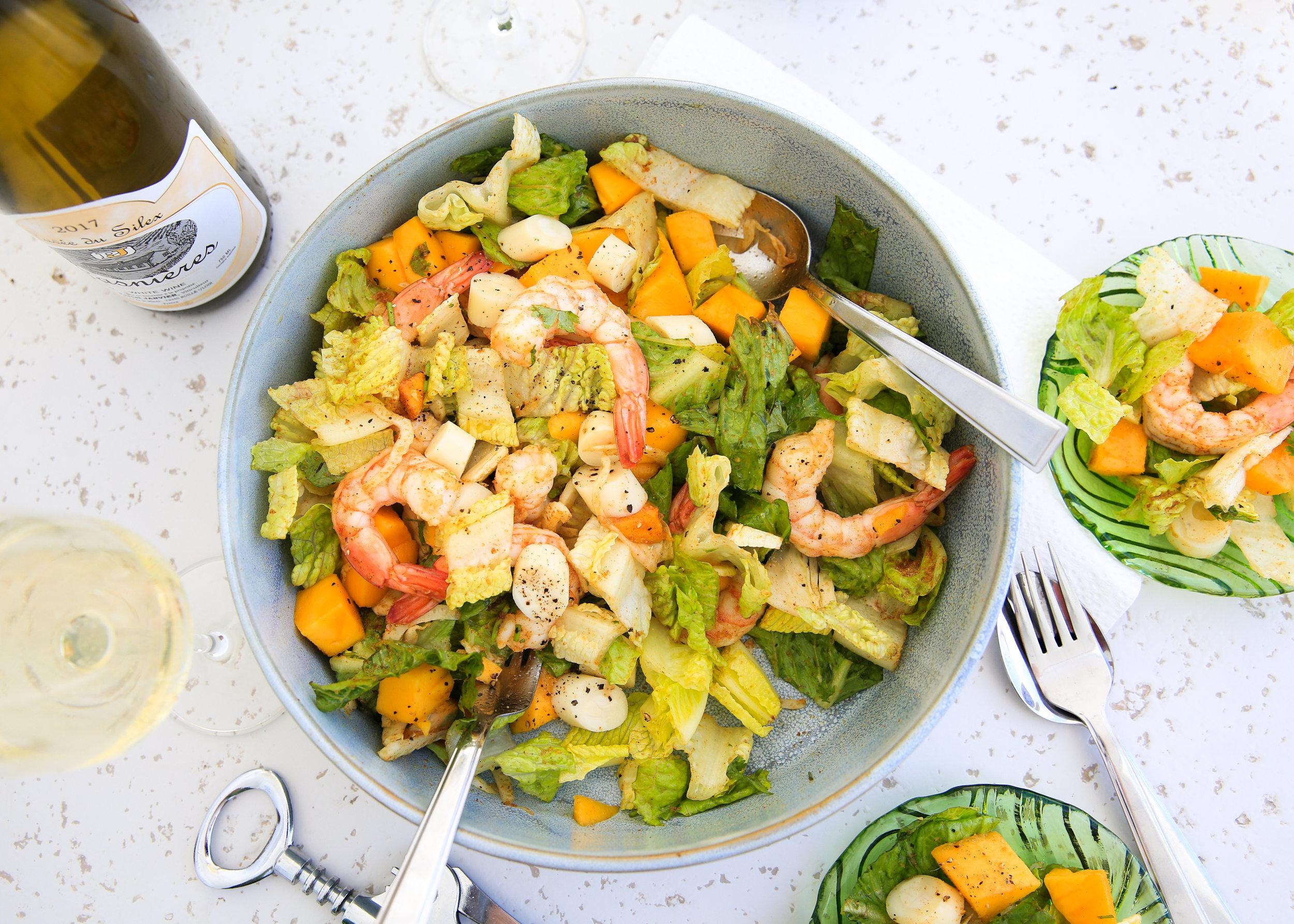 Summer mango salad