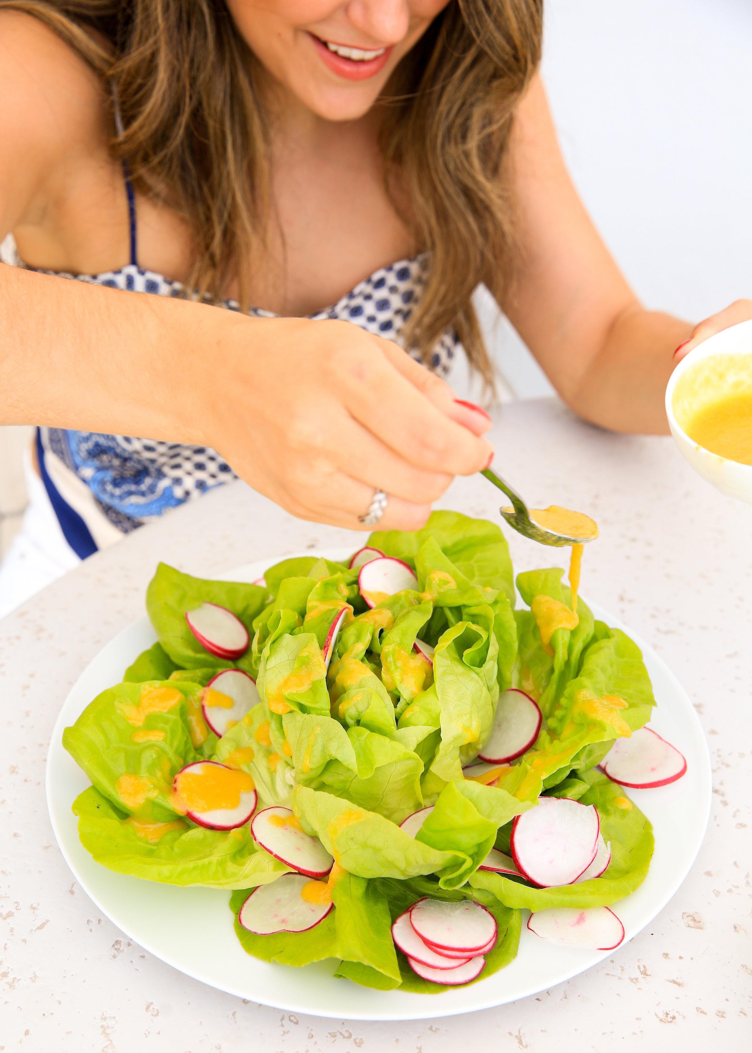 Mango vinaigrette to add flavor to any salad