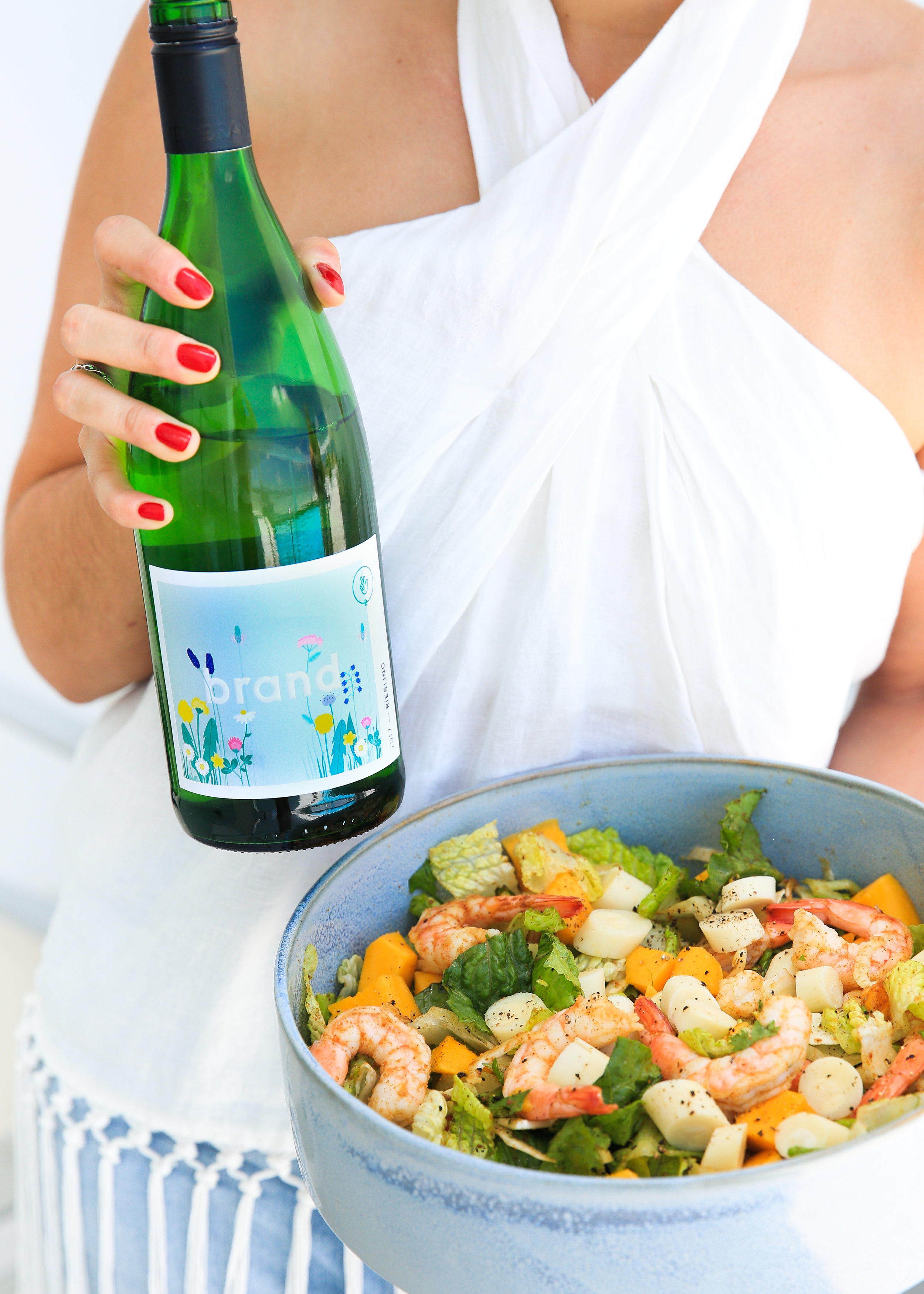 Mango salad with the perfect wine pairing